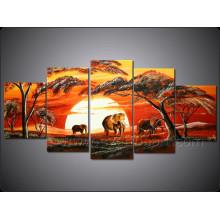 Wall Art Home Decoration Африканский пейзаж маслом (AR-124)
