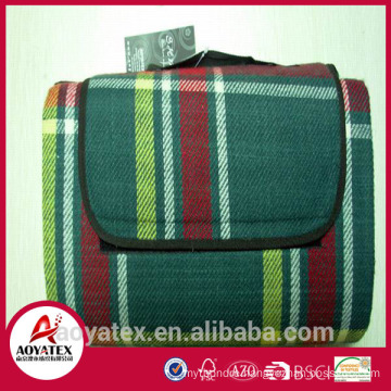 100% Acrylic picnic mat in check pattern, High quality picnic blanket, Camping picnic blanket for outdoors