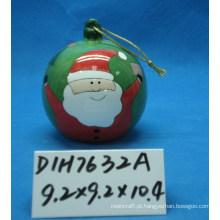 Cerâmica Santa Bauble para Decoração de Árvore de Natal