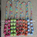 20MM Round Chunky Polka Dot Bead Necklace For Baby Girls