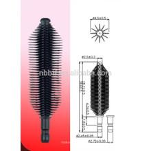 Fasertyp Silikon Wimperntusche Pinsel für kosmetische Verpackung verwenden