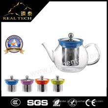 2016 New Arrival Borosilicate Glass Teapot Loose Leaf Tea Maker com aço inoxidável Infuser