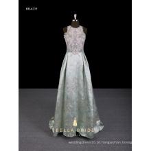 2017 nova chegada vestida de vestido de noiva de estilo chinês A-line com trilha de brocado