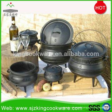 Pot chaudière en fonte d'Afrique du Sud / chaudron en fonte