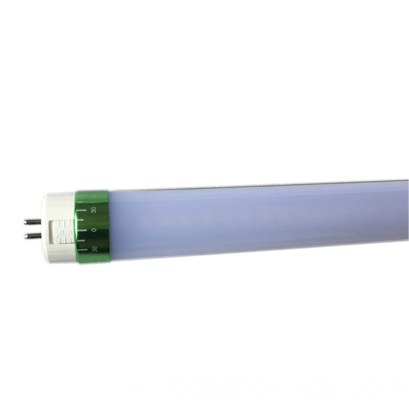 T5-18W-24W-LED-tube-light-green-rotating-end-cap-milky-cover-front-view