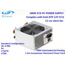 Fonte de alimentação para PC ATX V2.0 de 200-350W com ventilador de 12 cm Alimentação de computador