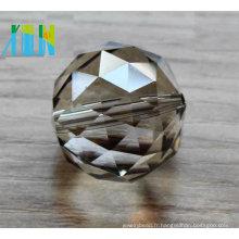 Pièces de lampe de cristaux de lustre accrochant la boule décor de mariage / boule de cristal à facettes