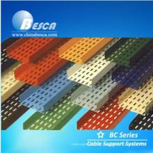 Bandeja de cables de plástico reforzado con fibra de vidrio / FRP / GRP