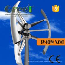 Turbina de Eje Vertical 10kw con Controlador e Inversor