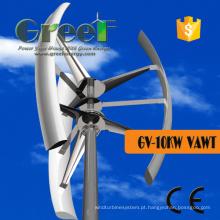 Turbina Eixo Vertical 10kw com Controlador e Inversor