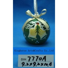 Christmas Decoration Round Ceramic Hanging Ball