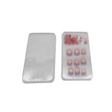 Bandeja cosmética transparente para blister de uñas postizas