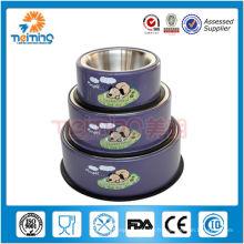 bol de chien violet de haute qualité multi taille en acier inoxydable