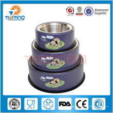 multi size high quality purple dog bowl in stainless