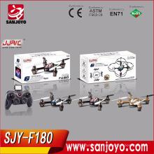 Le plus nouveau type télécommande de drone avec 2MP HD Caméra LCD Transmetteur 2.4G 4CH rc Quadcopter SJY-JJRC-F180
