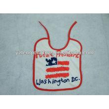 Chine fabricant logo imprimé 100% coton bavoirs bébé