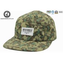 2015 venta caliente verde camuflaje impreso deportes Camper Snapback Cap