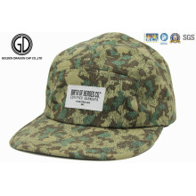 2015 Hot Sale Green Camo Printed Sports Camper Snapback Cap