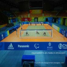 Rollo de los deportes del PVC de la venta de la fábrica de China / piso del dispositivo de seguridad para el balonmano