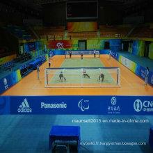 Chine Usine Vente PVC Sports Roll / Interlock Plancher pour Handball