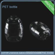 Botellas transparentes plásticas de PET botella de diseño especial con tapa