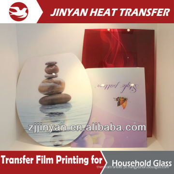 2015 newest printing design heat transfer film for glass