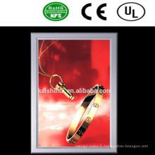 Panneau d'affichage mince de la publicité de boîte à lumière de LED