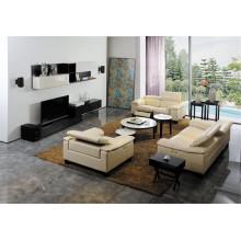 Sofá de la sala de estar con el sistema moderno del sofá del cuero genuino (427)