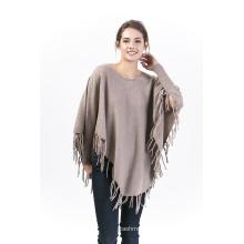 Poncho en laine pour femme