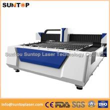 Máquina de corte do laser da fibra do Sheet Metal para a indústria de anúncio / máquina de corte do metal do laser