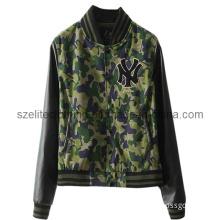 Fashion Camouflage Leather Jacket (ELTSJJ-43)