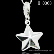 Unique Star Shaped 925 Sterling Silver Pendant (H-0368)
