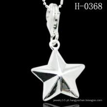 Estrela original em forma de pingente de prata 925 esterlina (h-0368)