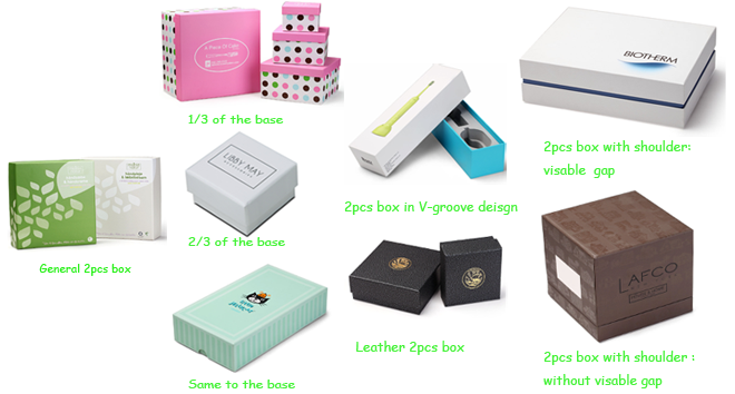 Box's type of Top&Bottom 2pcs paper box