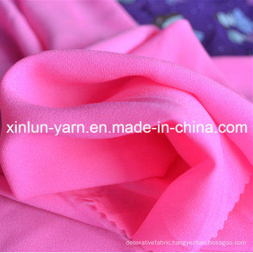 100% Polyester Red Chiffon Tulle Fabric for Dress
