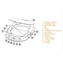 Transmisor de FM manos libres Bluetooth para radio de coche
