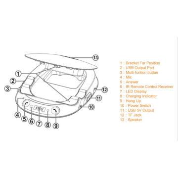 Bluetooth Handsfree FM Transmitter for Car Radio