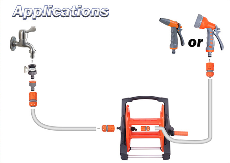 hose reel accessories application