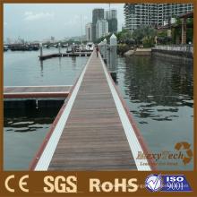 WPC-Dock-Planking, zusammengesetztes Jachthafen-Decking, Pier-Bodenbelag-Kai-Planken