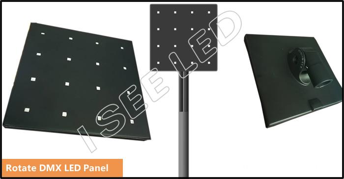 Rotate dmx led panel details
