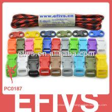 7 cuerdas 550 cordón paracaídas 100 pies paracord para equipo de camping