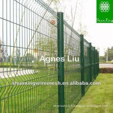 Maille de clôture en treillis en fer noir recouvert de PVC