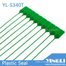 Selos de segurança de plástico ajustáveis com marcação e impressão