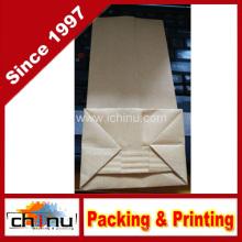 Saco de papel kraft inferior quadrado (220116)