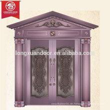 Fabrik Custom Luxus Entry Bronze Tür, Doppel Swing Kupfer Tür