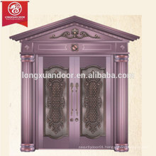Factory Custom Luxury Entry Bronze Door, Double Swing Copper Door