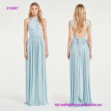 Luz azul espumoso multi-manera vestido de dama de honor