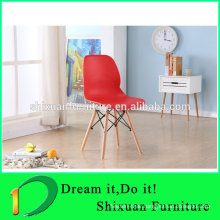 New style plastic leisure wood legs popular chair