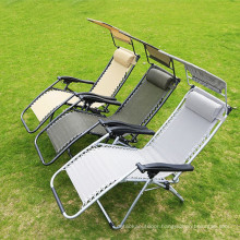 Outdoor Backrest Beach Camping Chair Reclining Beach Chair With Footrest Beach Foldable Chair