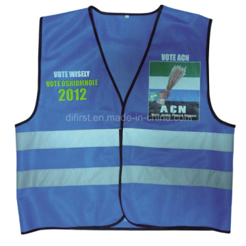 High Visibility Reflective Safety Vest with Logo Printing (DFV1002)